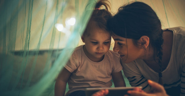 Mum and child with iPad