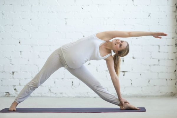 pregnant woman yoga
