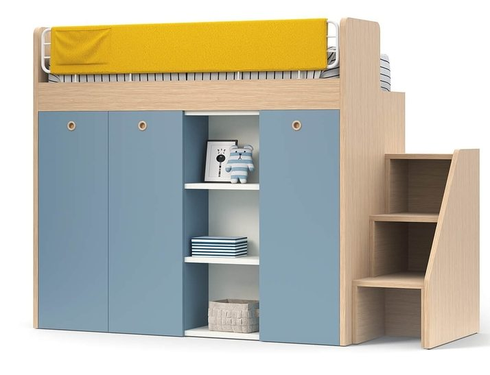 Ergo Loft Storage Bed by Nidi available with step or a ladder