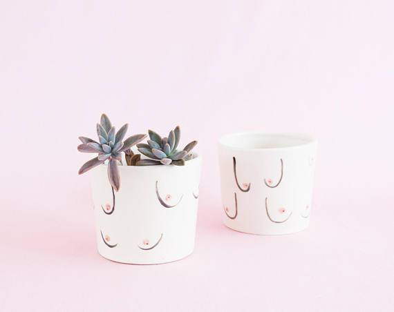 Boob planters