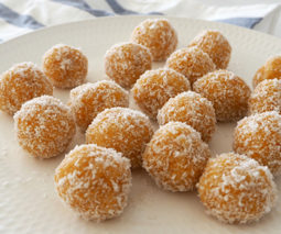 Apricot bliss balls recipe feature image