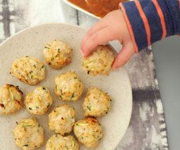Baked chicken meatballs recipe feature