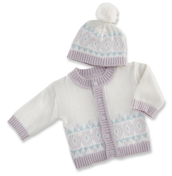 Baby Aspen Fairy Tale Forest Cardigan & Hat Set