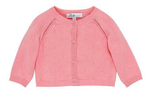 BEBE BY MINIHAHA Eloise Spot Knit Cardigan