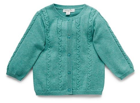 Pure baby cable cardigan