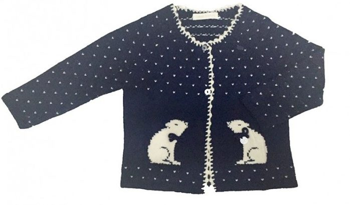 polar bear cardigan