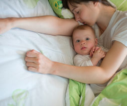 Mother and baby co-sleeping - feature