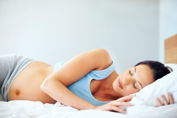 sleeping pregnant woman 2