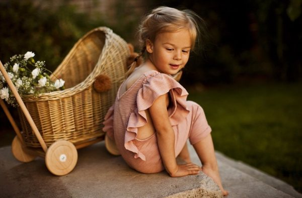 LILU | WICKER DOLL'S PRAM