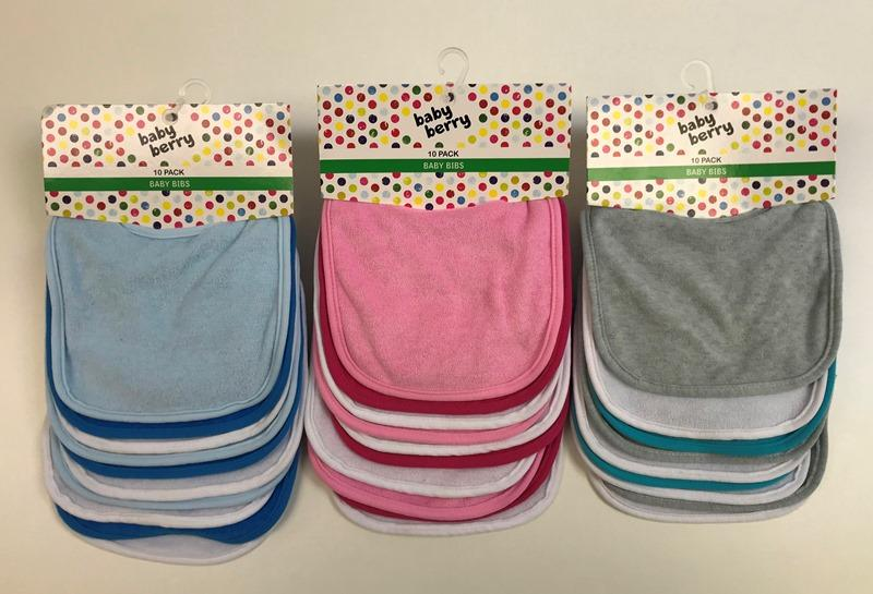 Best and Less Baby Berry Bibs colour range