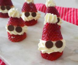 Santa Strawberries Christmas recipe