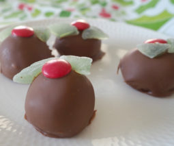 Christmas chocolate cheesecake balls recipe