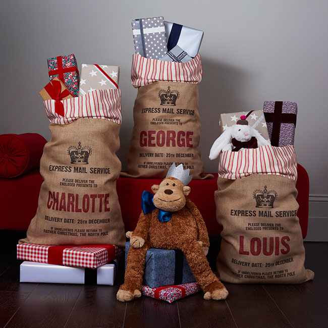 Royal Santa sacks by Harrow & Green