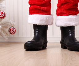 Santa legs and boots Christmas - feature