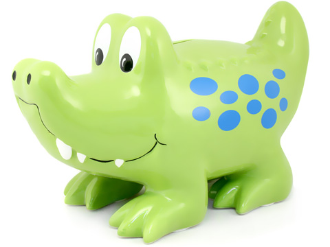 Gator piggy bank