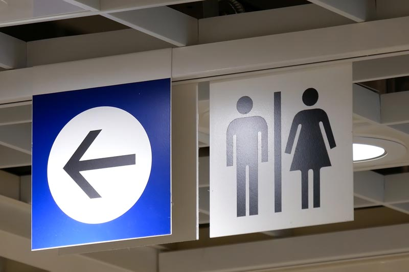 IKEA toilet sign