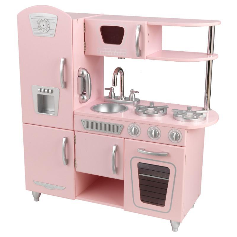 KidKraft pink vintage style kids wooden kitchen