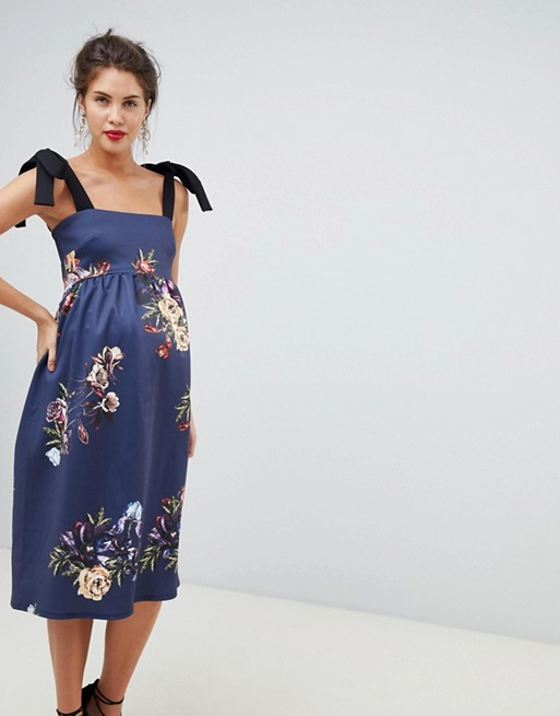 True violet maternity dress