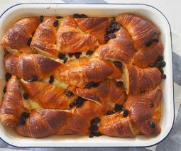 Easy croissant pudding recipe