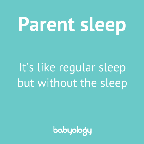 Parent sleep meme