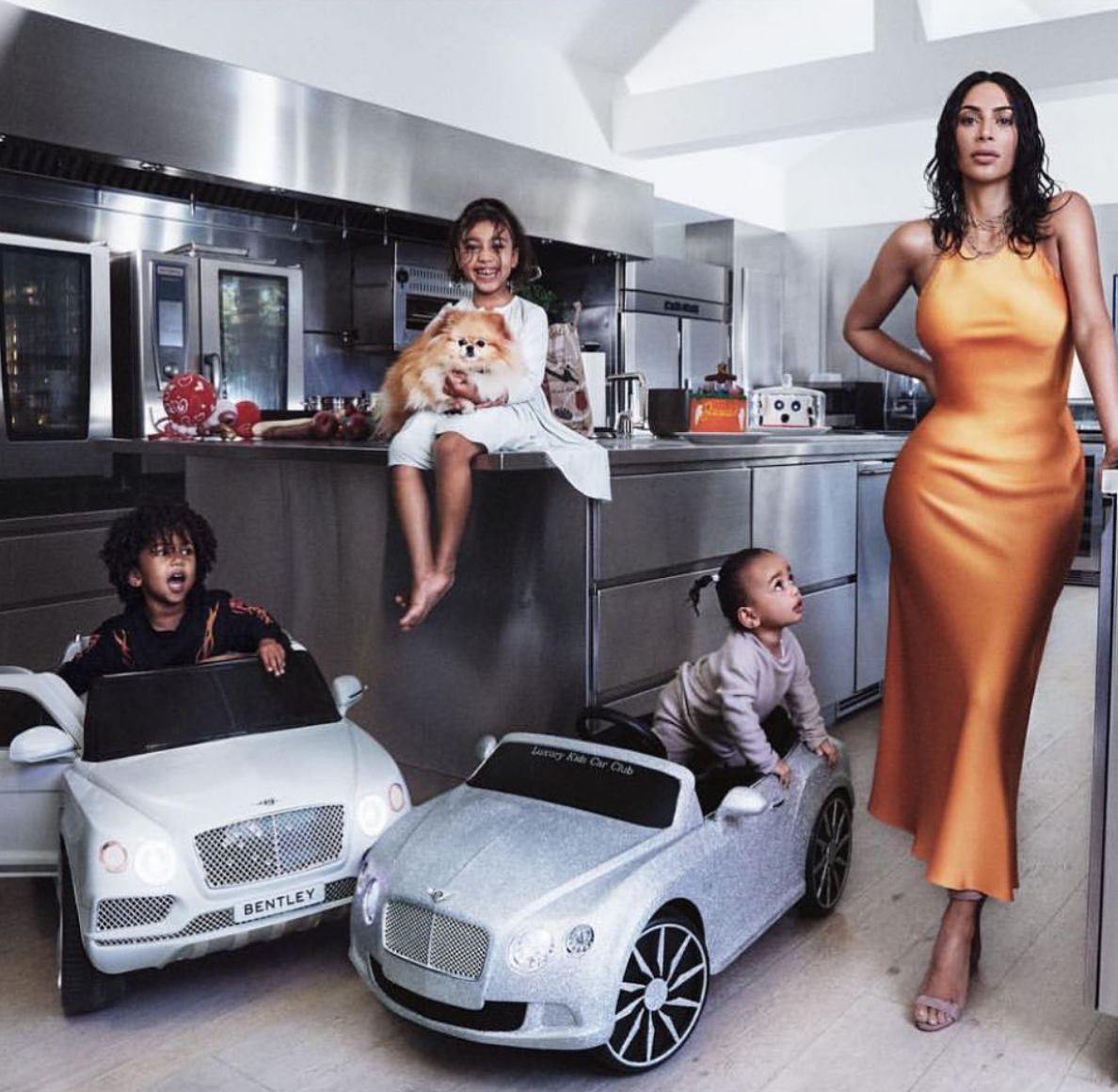 Kim Kardashian and kids in Vogue