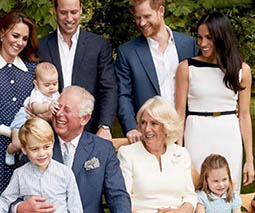royal family laughing with kids