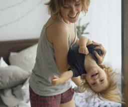 mum dancing with daughter