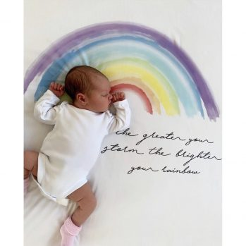 Our Rainbow Baby Wrap