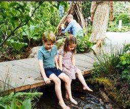 The Cambridge family at Chelsea Garden Show