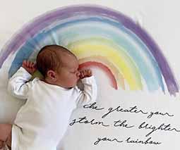Our Rainbow Baby Wrap