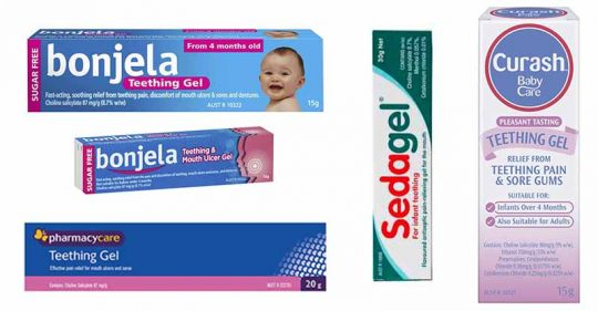 teething gels