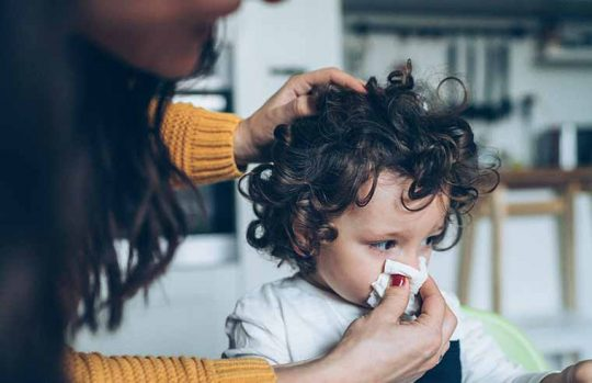 Toddler with runny nose