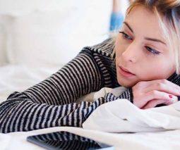 Sad or pensive woman