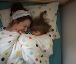 In bed with mum co-sleeping