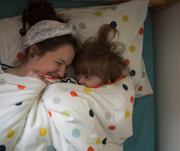 In bed witrh mum co-sleeping thumbnail