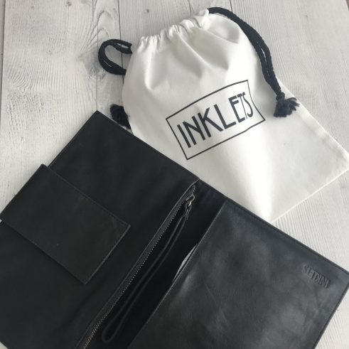 Inklet leather nappy clutch