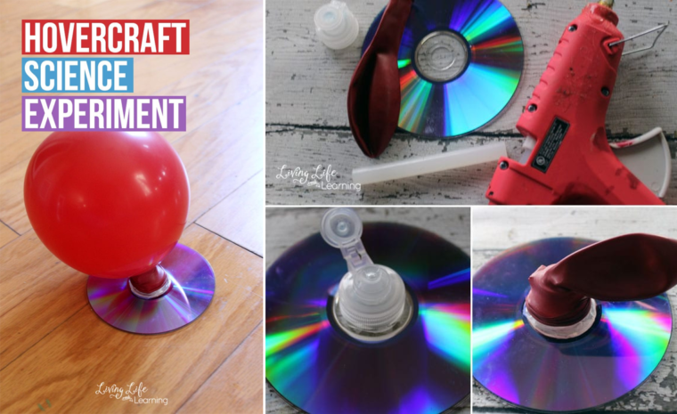 DIY Hovercraft science activity for kids