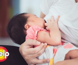Breastfeeding a newborn baby