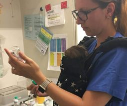 NICU nurse babywearing