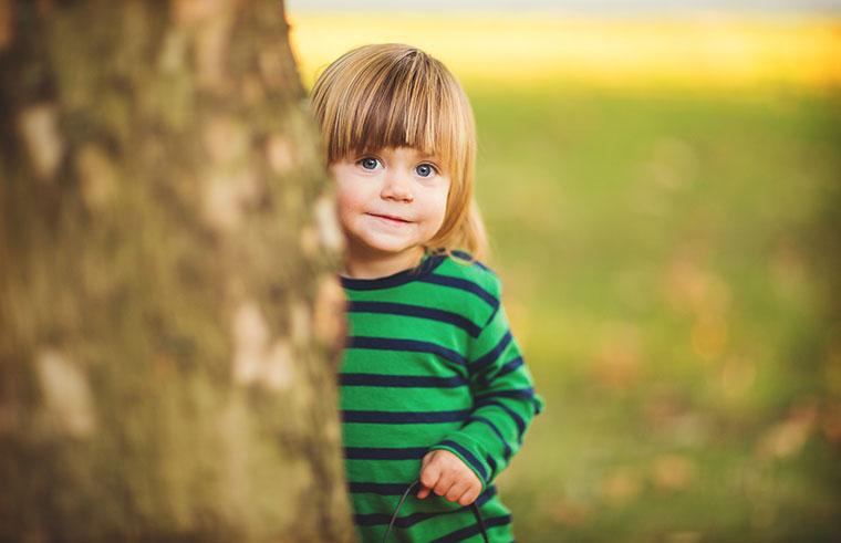 toddler outside