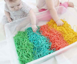 Rainbow spaghetti activity