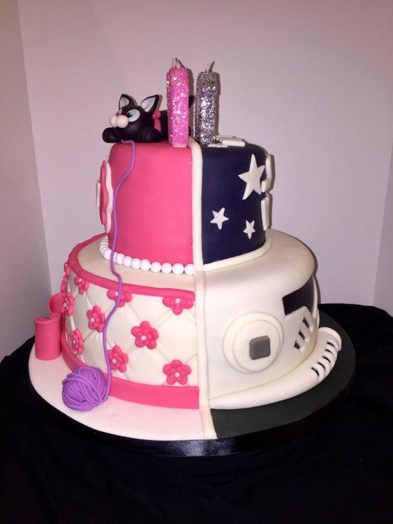 Double-sided cake