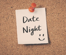 Date Night sticky note pinned to message board feature