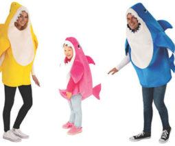 Family of baby shark costumes