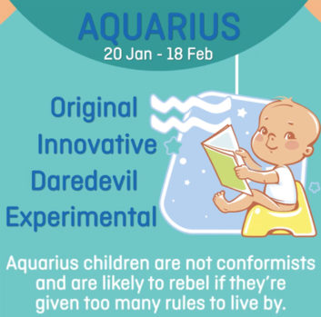 Baby zodiac - Aquarius