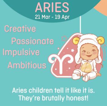 Baby zodiac - Aries