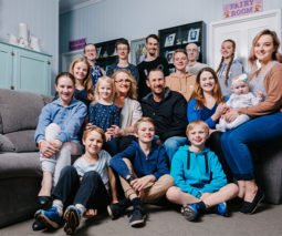 The Bonell family with sixteen children