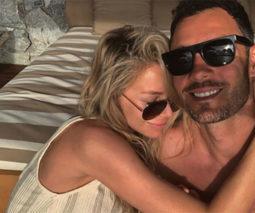 Jennifer hawkins and her husband Jake Wall