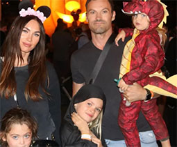 Megan Fox with family at Disneyland