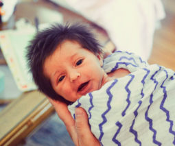 Baby with awesome head of hair